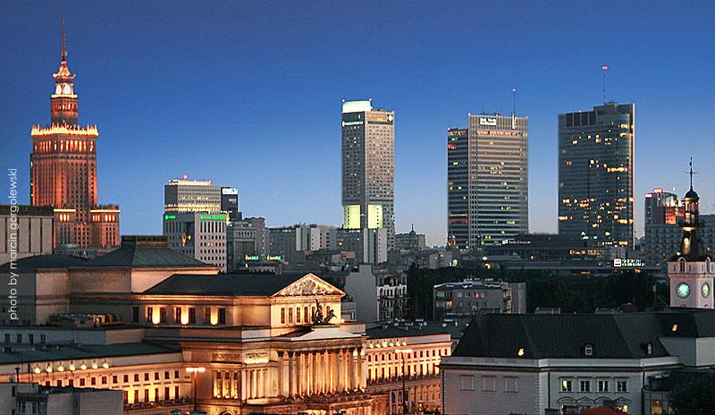 Warszawa - panoramy miasta