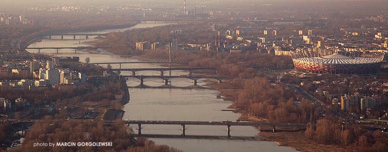 panorama rzeki wisły