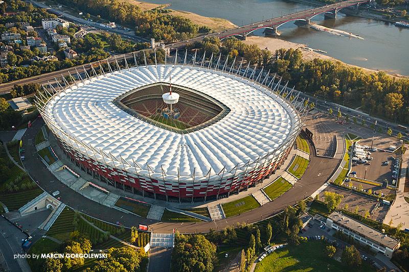 stadion narodowy,z lotu ptaka lotnicze,stadion latem