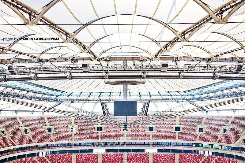 stadion narodowy zdjęcie stylizowane