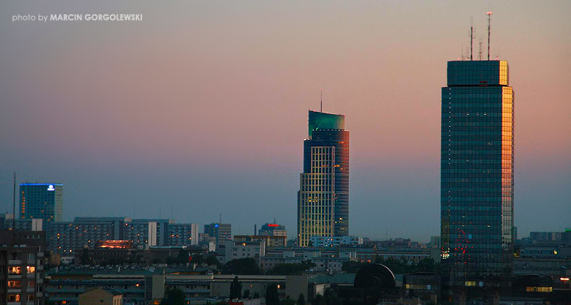 Warsaw Trade Tower i Blue Tower Plaza