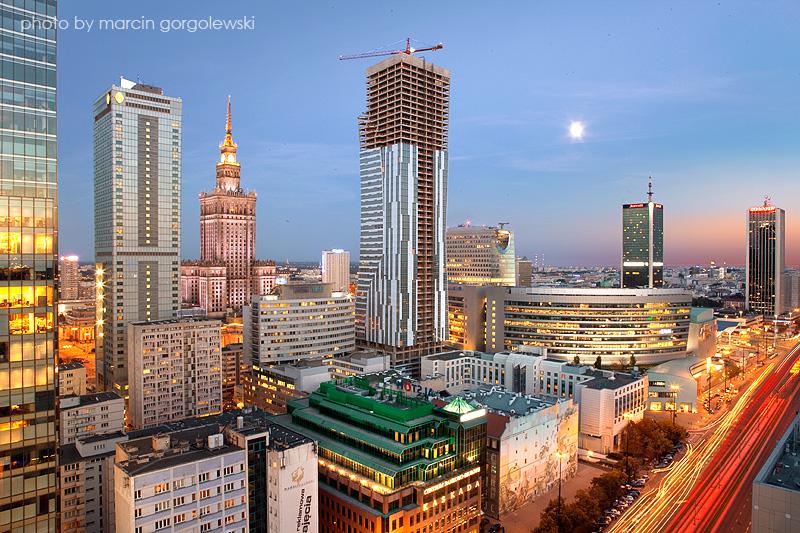 > Centre ville de Varsovie - Photo de Marcin Gorgolewski (fotoblog.gorgolewski.pl)