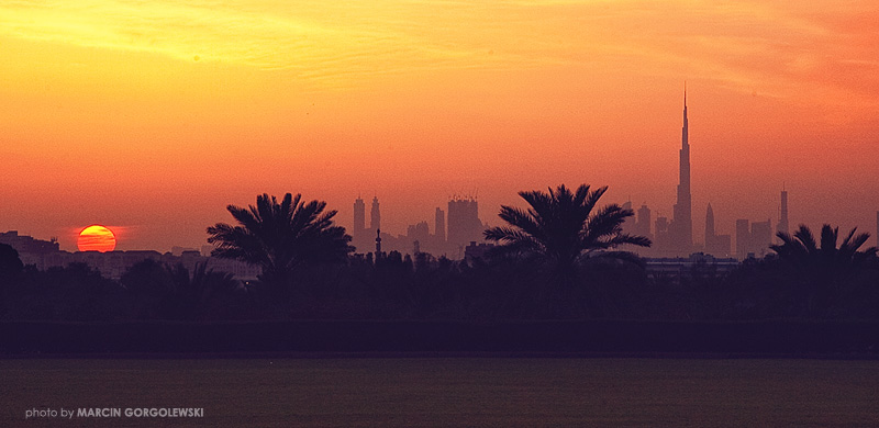 dubai,sunset,khalifa